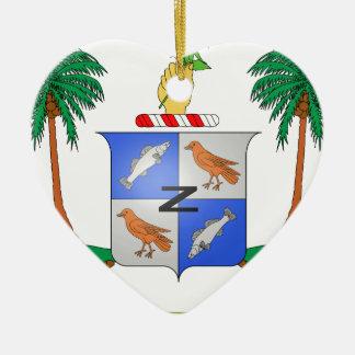 Cocos Island Coat of Arms Ceramic Ornament