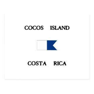 Cocos Island Costa Rica Alpha Dive Flag Postcard