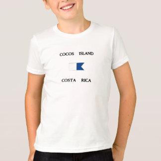 Cocos Island Costa Rica Alpha Dive Flag T-Shirt