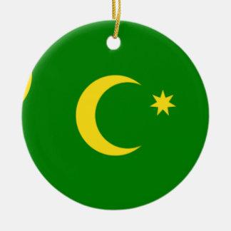 Cocos Island Flag Ceramic Ornament