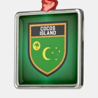 Cocos Island Flag Metal Ornament