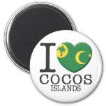 Cocos Islands 2 Inch Round Magnet