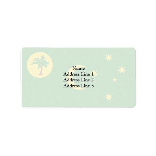 Cocos Islands, Australia flag Address Label