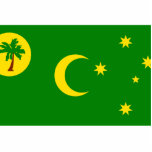 Cocos Islands, Australia flag Cut Out