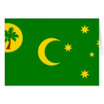 Cocos Islands, Australia flag Greeting Card