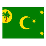 Cocos Islands, Australia flag Postcards