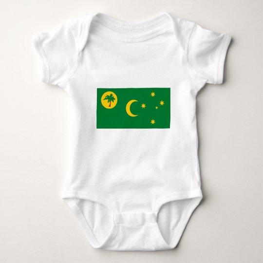 Cocos Islands Flag Baby Bodysuit