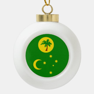 Cocos Islands Flag Ceramic Ball Christmas Ornament