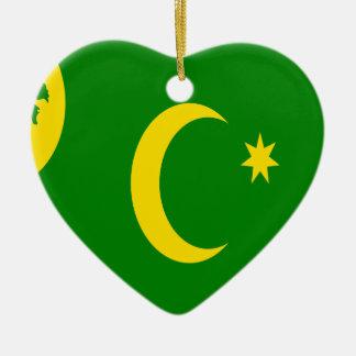 Cocos Islands Flag Ceramic Ornament