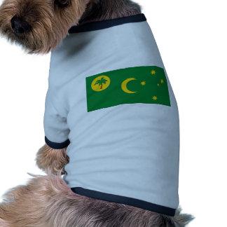 Cocos Islands Flag Dog Tshirt
