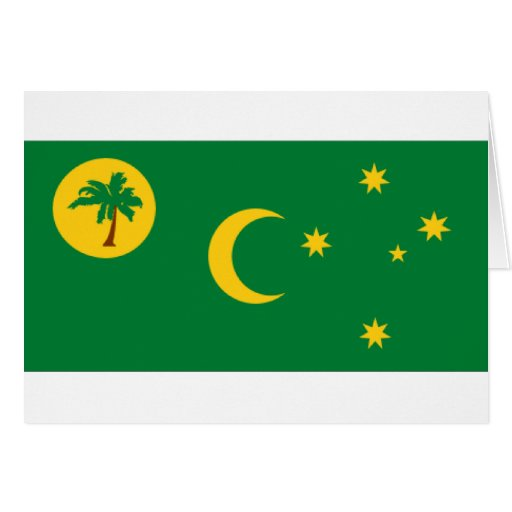 Cocos Islands Flag Greeting Cards