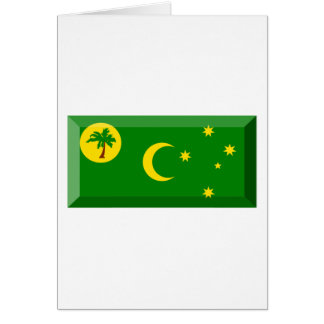 Cocos Islands Flag Jewel Card