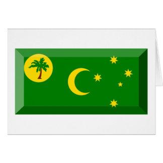 Cocos Islands Flag Jewel Greeting Card