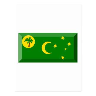 Cocos Islands Flag Jewel Postcard