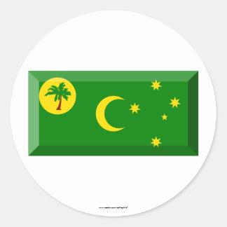 Cocos Islands Flag Jewel Classic Round Sticker