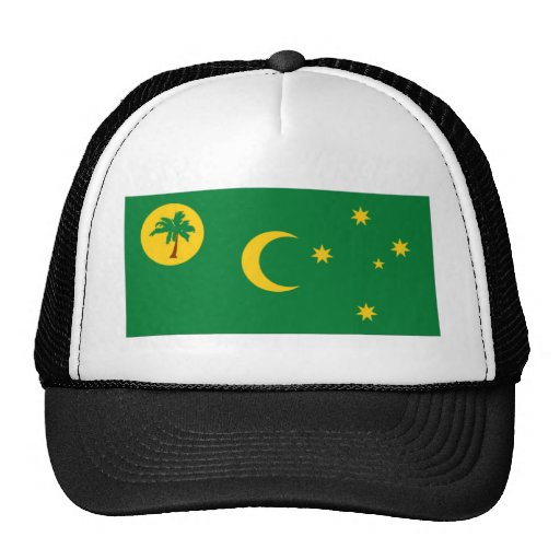Cocos Islands Flag Mesh Hats