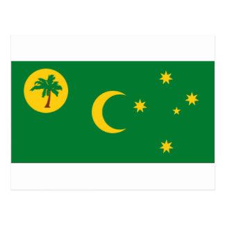 Cocos Islands Flag Postcard