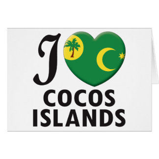 Cocos Islands Love Greeting Card