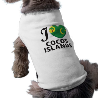 Cocos Islands Love Dog Tee Shirt
