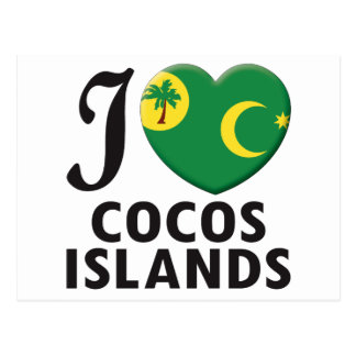 Cocos Islands Love Post Cards