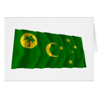 Cocos Islands Waving Flag Cards