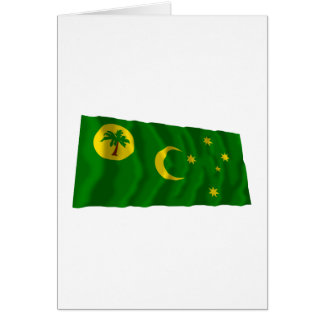 Cocos Islands Waving Flag Greeting Cards