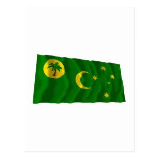 Cocos Islands Waving Flag Postcard