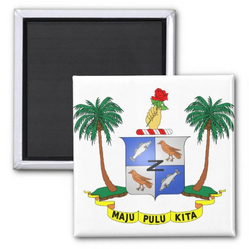 Cocos (Keeling) Islands Coat of arms CC 2 Inch Square Magnet