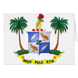 Cocos (Keeling) Islands Coat of arms CC Greeting Card