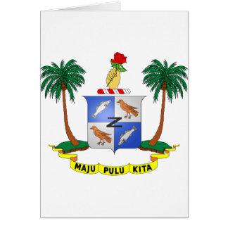 Cocos (Keeling) Islands Coat of arms CC Card