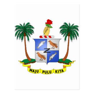 Cocos (Keeling) Islands Coat of arms CC Postcards