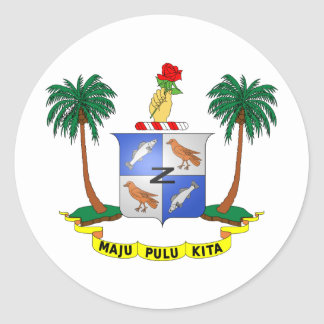 Cocos (Keeling) Islands Coat of arms CC Round Sticker