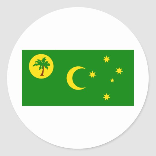 Cocos (Keeling)Islands Flag CC Classic Round Sticker