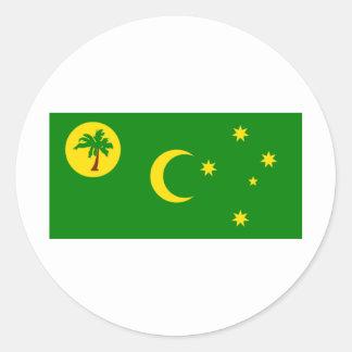 Cocos (Keeling)Islands Flag CC Round Sticker