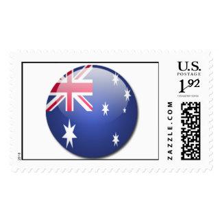 cocos (keeling) islands flag postage