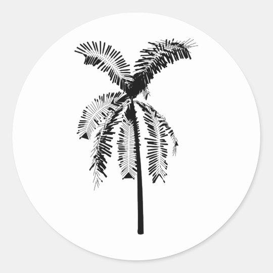 Cocos Nucifera Classic Round Sticker