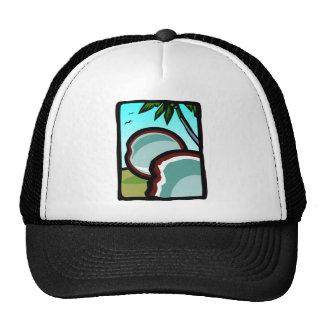 Cocos y palmas gorras de camionero