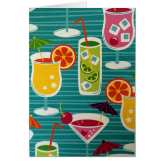 COCTAILS GALOUR SAYING HAPPY BIRTHDAY-CELEBRATE CARD