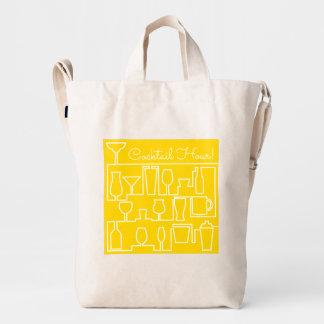 Cóctel amarillo bolsa de lona duck