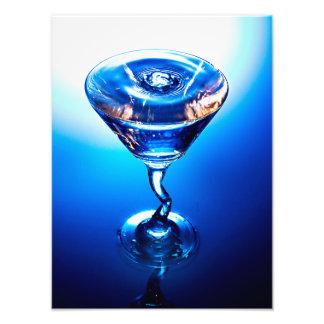 Cóctel azul fotografía
