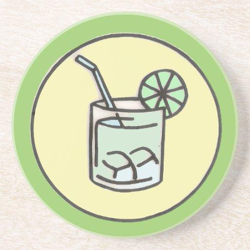 cóctel brasileño del caipirinha posavasos personalizados