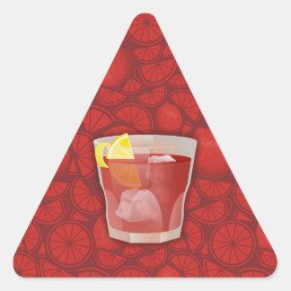 Cóctel de Americano Pegatina Triangular