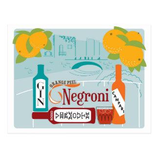 Cóctel de la fruta cítrica de Negroni Postal