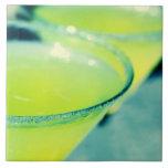 Cóctel de la gota de limón azulejo cerámica
