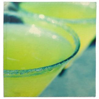 Cóctel de la gota de limón servilletas