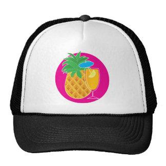 Cóctel de la piña gorras de camionero