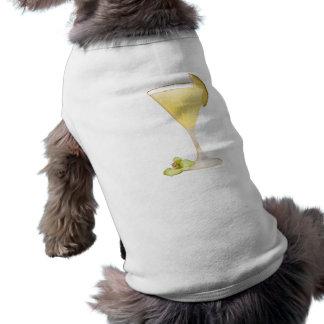 Cóctel de la piña playera sin mangas para perro