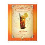 Cóctel de la taza de Pimm Impresiones En Lona