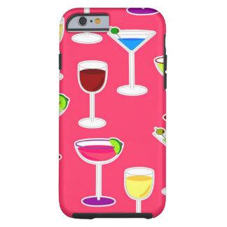 Cóctel de las bebidas alcohólicas - rosa funda de iPhone 6 tough