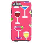 Cóctel de las bebidas alcohólicas - rosa funda para iPhone 6 tough